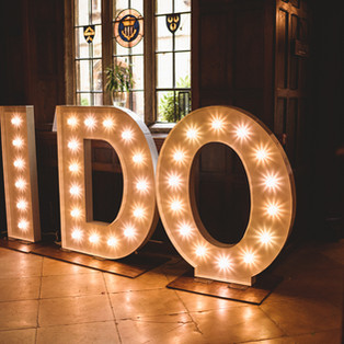 KMS Hire - Suffolk giant light up letter wedding hire