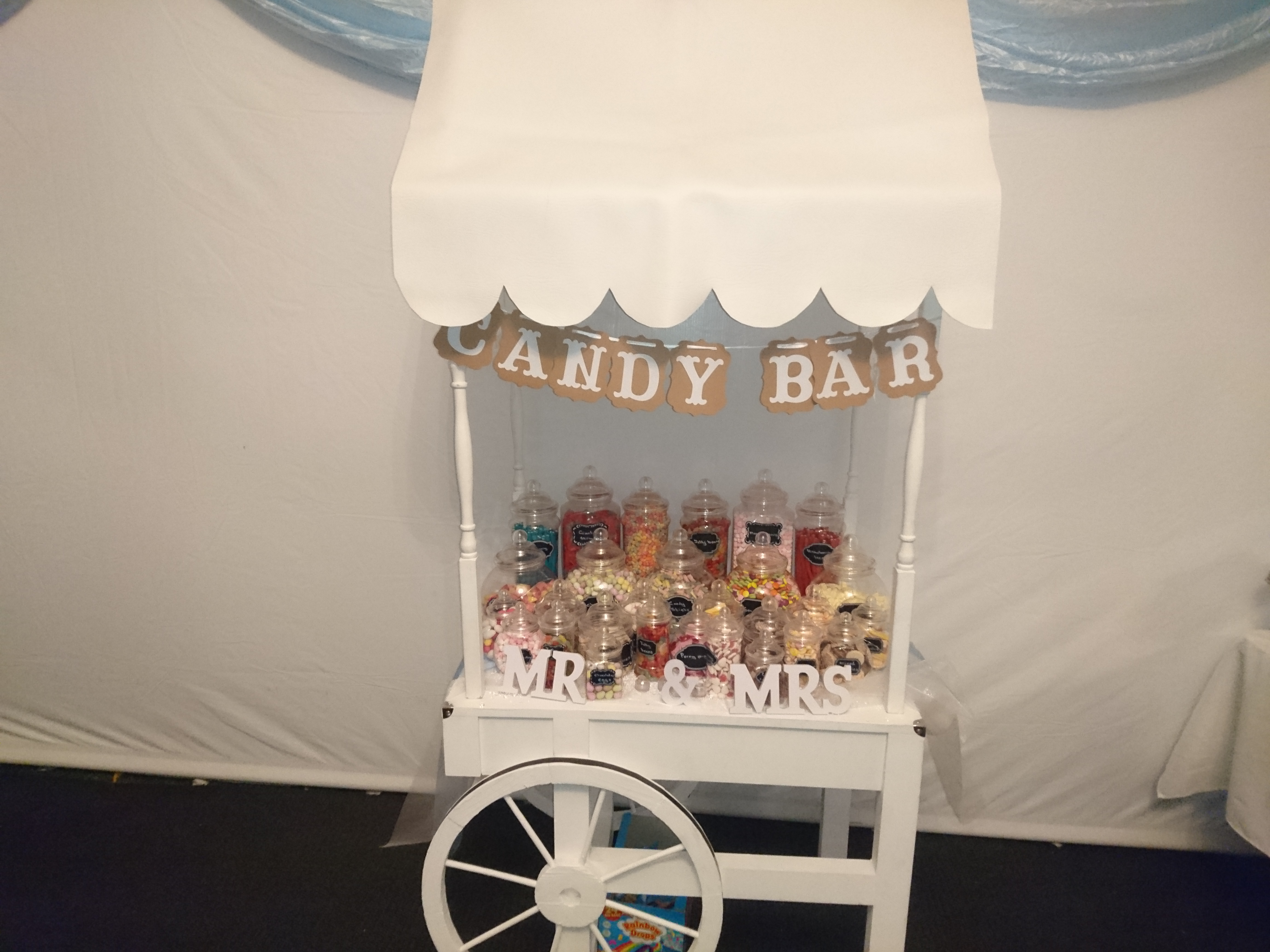 KMS Hire's small candy cart