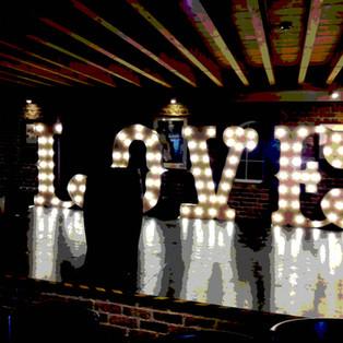KMS Hire - Kent Light Up circus LOVE Wedding Hire