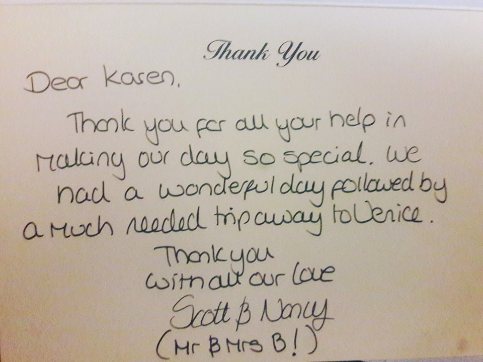 KMS Hire thank you card