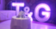 KMS Hire's 5ft tall Colour Changing Initial Light Up Letters available for hire