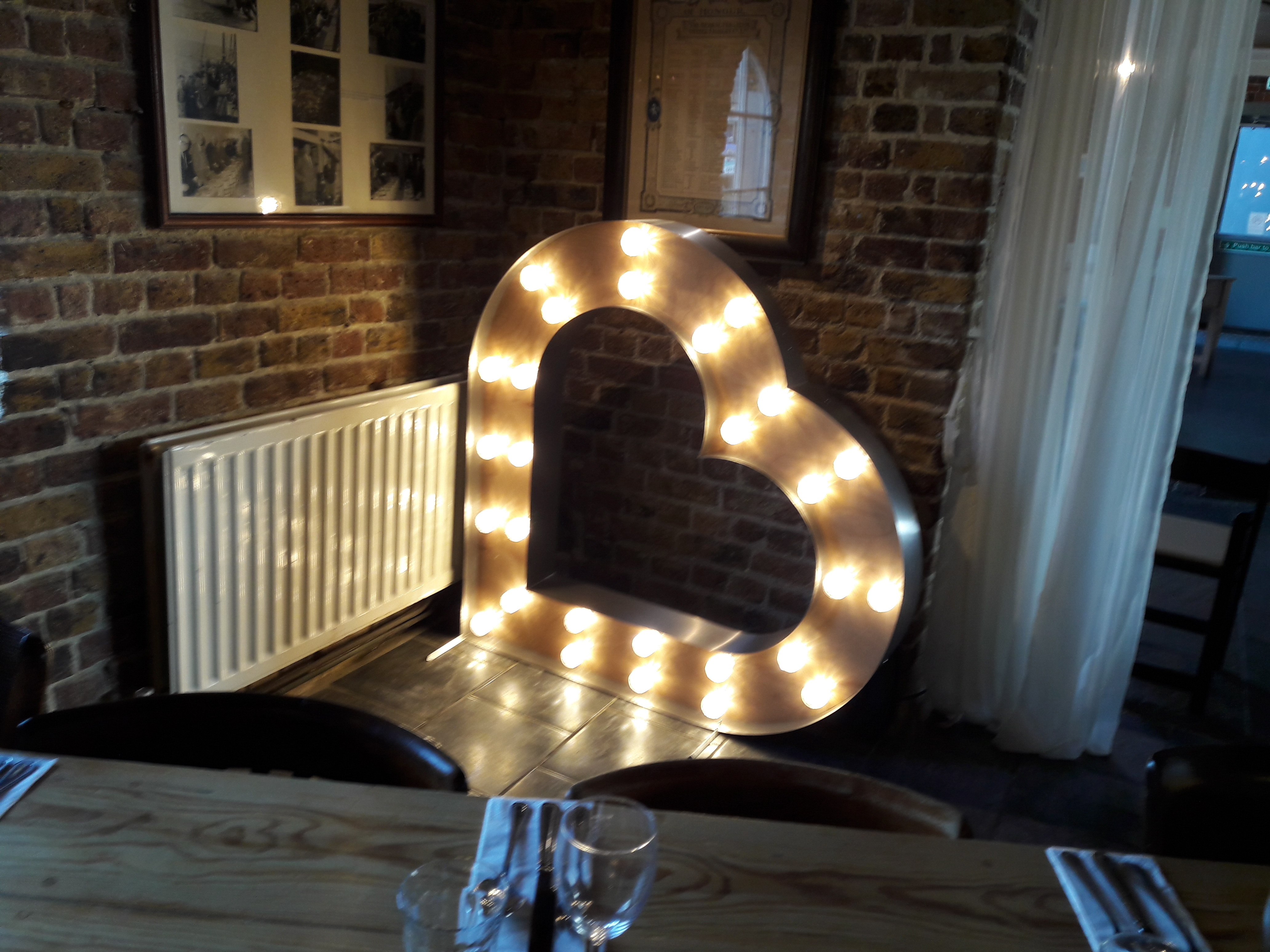KMS Hire's heart lights for hire