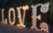 Vintage Circus Style Illuminated Wedding Letter Lights