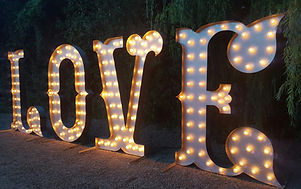 5ft Tall Love Letter Lights
