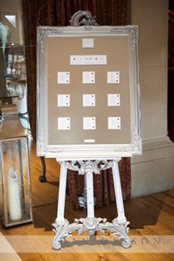KMS Hire silver easel for hire