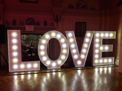 KMS Hire LOVE letter lights for hire