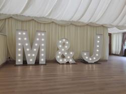 KMS Hire's M&J initial lights