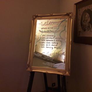 KMS Hire - Surrey wedding mirror for hire