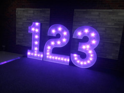 KMS Hire's colour changing numbers