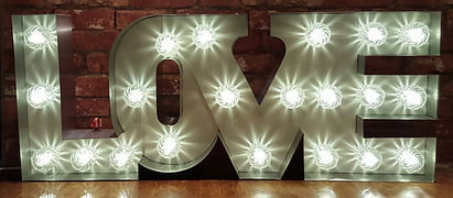 Wedding love light sign