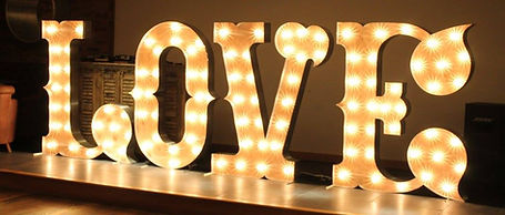 5ft Tall Circus Barn Style Love Letter Lights perfect for weddings