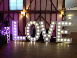 Love Letter Lights perfect for weddings