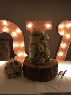 KMS Hire's 5ft tall letter lights