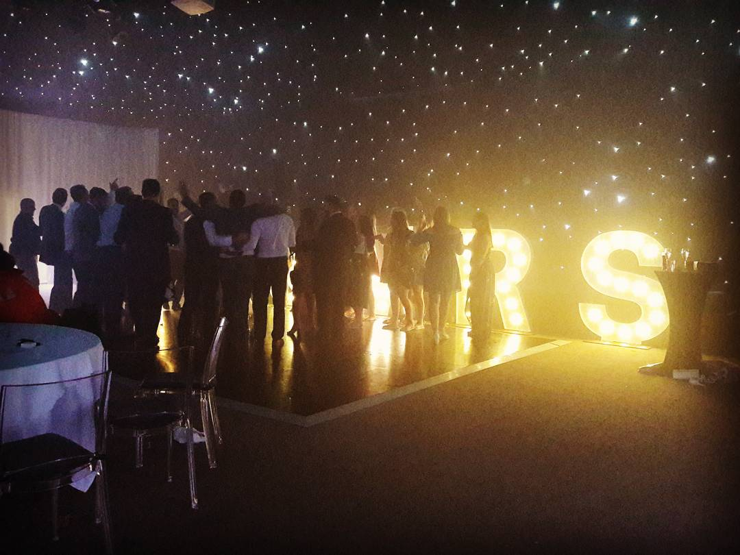 KMS Hire's giant MR & MRS Lights