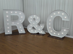 KMS Hire's giant light up letters