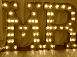 KMS Hire circus font lights for hire