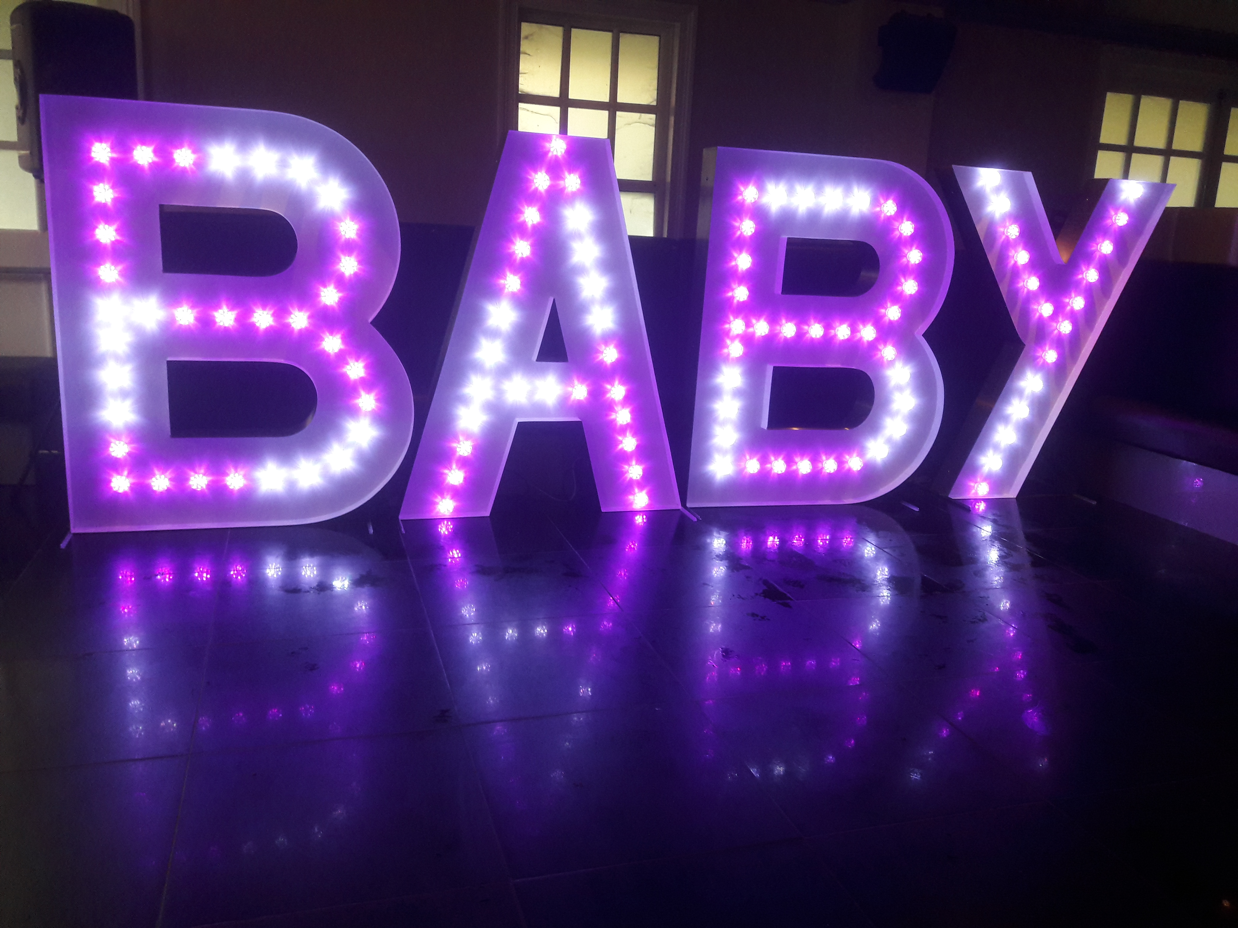 KMS Hire's 5ft BABY letter lights