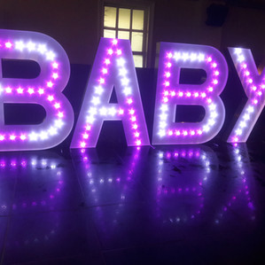 KMS Hire - Essex giant light up letter hire for parties, birthdays, anniversaries and events