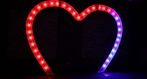 Giant 8ft Tall Colour Changing Heart Arch