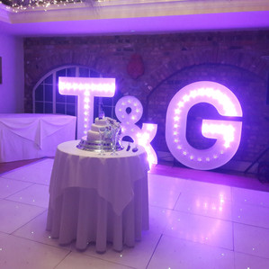 KMS Hire - Essex 5ft Tall RGB Colour Changing Letter Light Hire
