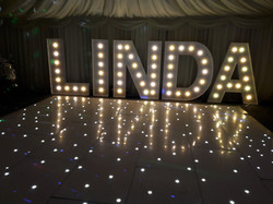 KMS Hire's giant letter lights