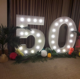 KMS Hire - giant light up letters and numbers for hire Surrey - birthdays, parties and events