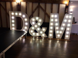 KMS Hire giant letter lights