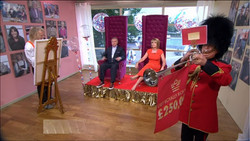 KMS Hire Gold easel ITV This Morning