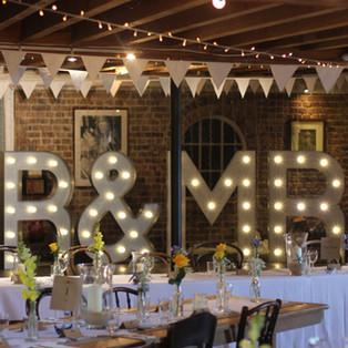 KMS Hire - Kent MR & MRS Light Up Letter Wedding Hire