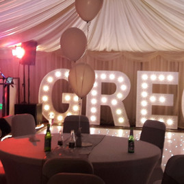 KMS Hire - Essex giant light up letter and number hire for parties, birthdays, anniversaries and events