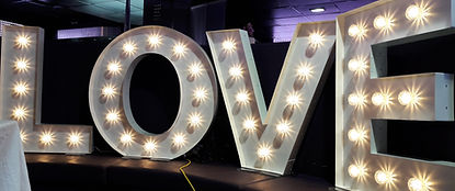 KMS Hire's 3ft tall letter lights for hire in Essex