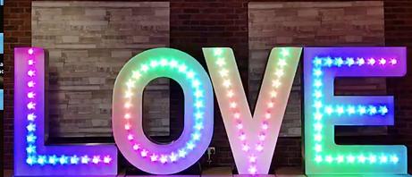 Giant 7ft Tall Love Letter Lights