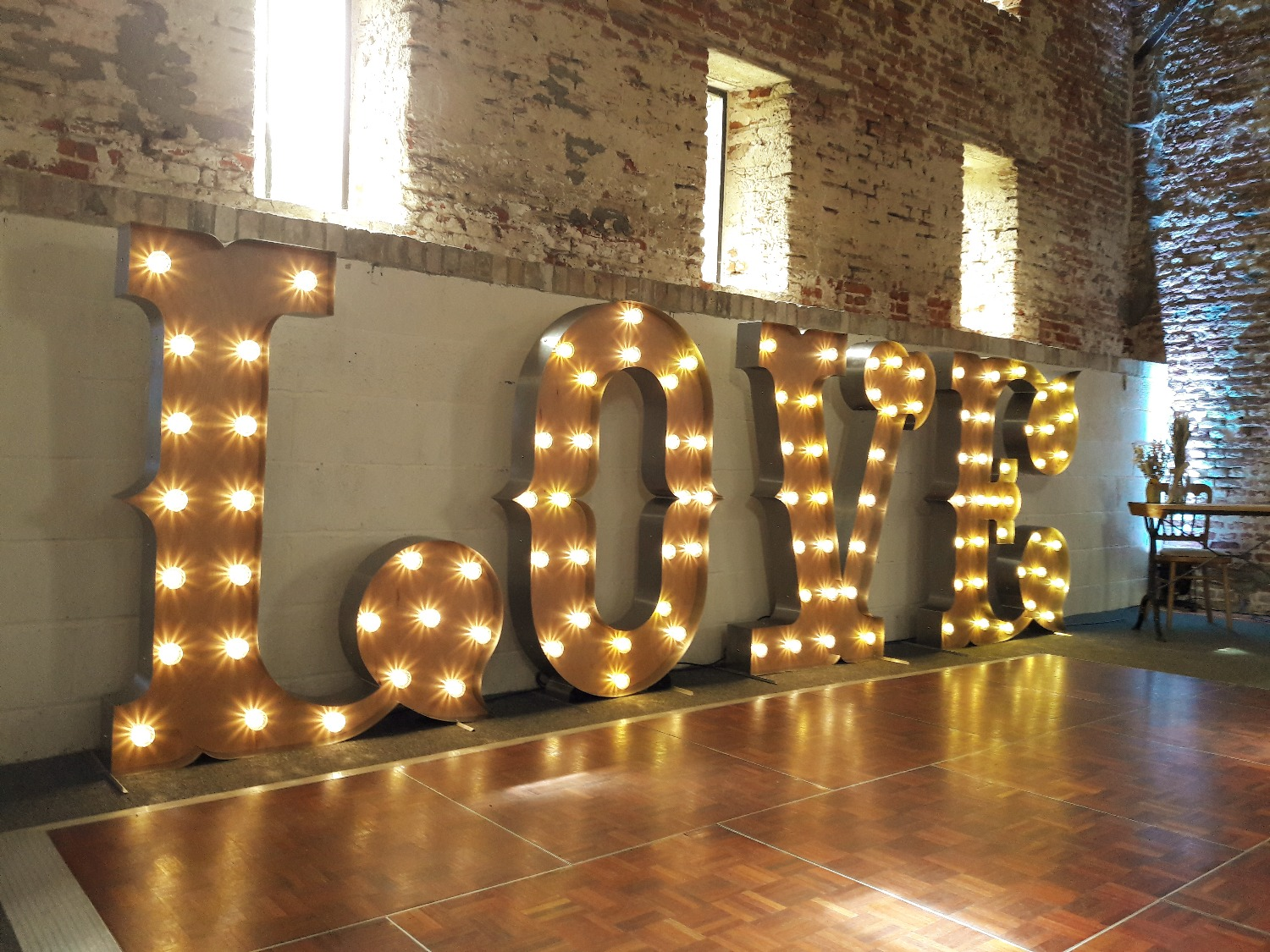 Circus style love lights for hire