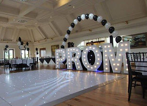 PROM giant light up letters