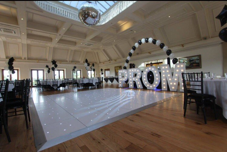 KMS Hire's giant PROM letter lights
