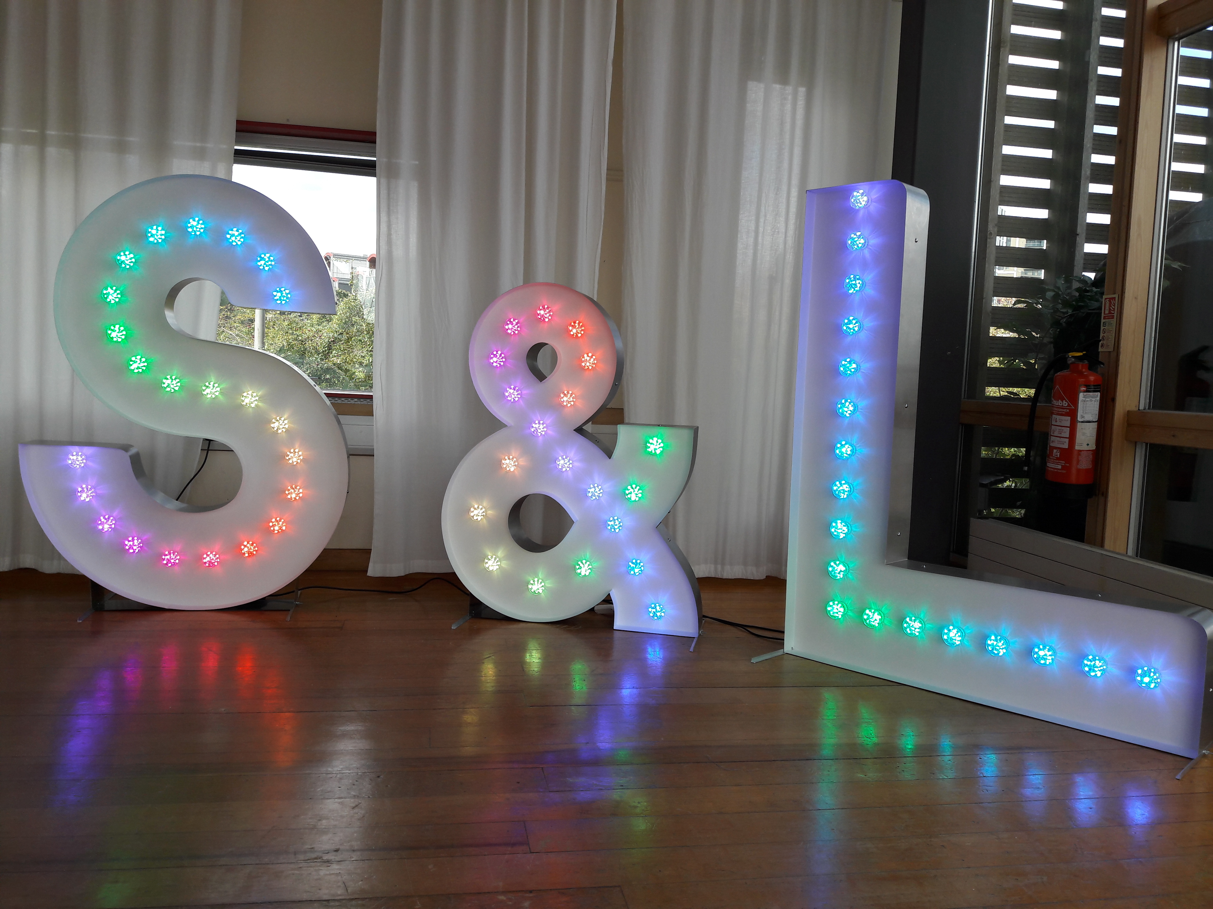 KMS Hire's Colour Light Up Letters