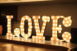 KMS Hire's 5ft circus love lights