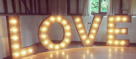 Giant Love Letter Lights