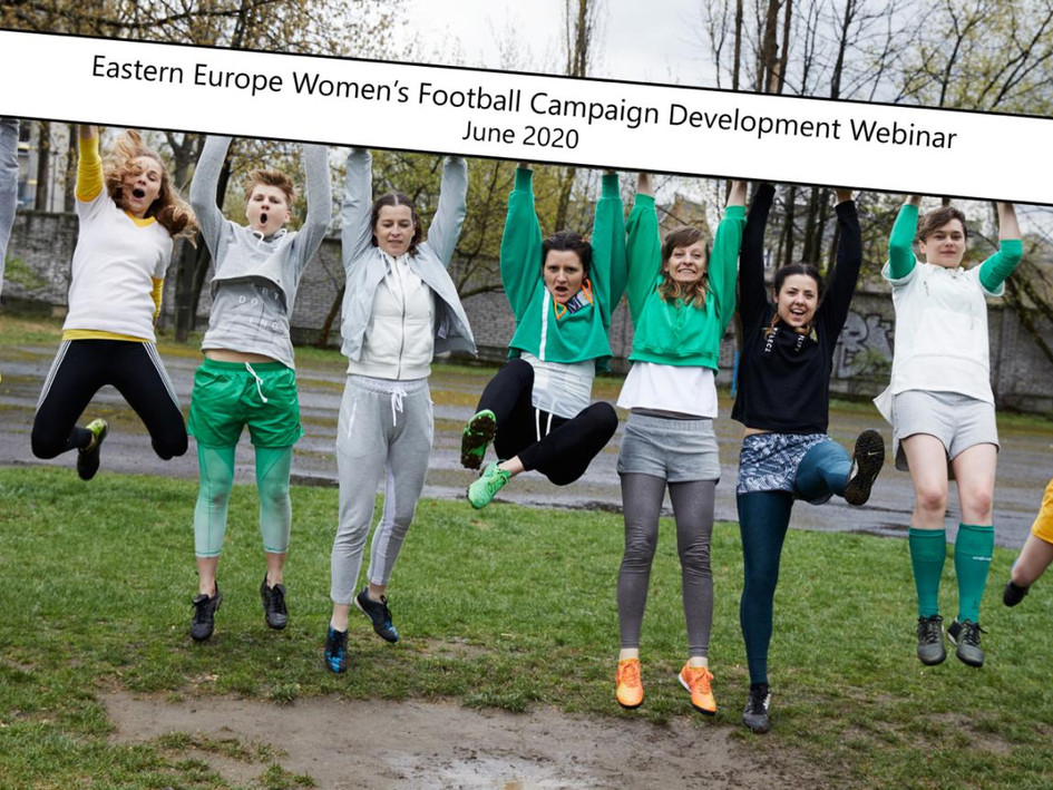 Running a webinar for Eastern Europe on developing a Women's Football Marketing Campaign