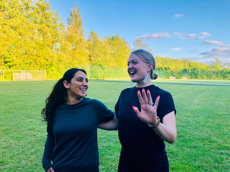 With the INCREDIBLE Khalida Popal in Copenhagen, May 2019