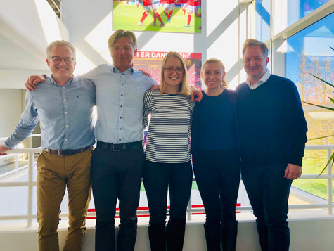 The key project team at the Danish FA (DBU) and UEFA, develop the new Danish Women's League