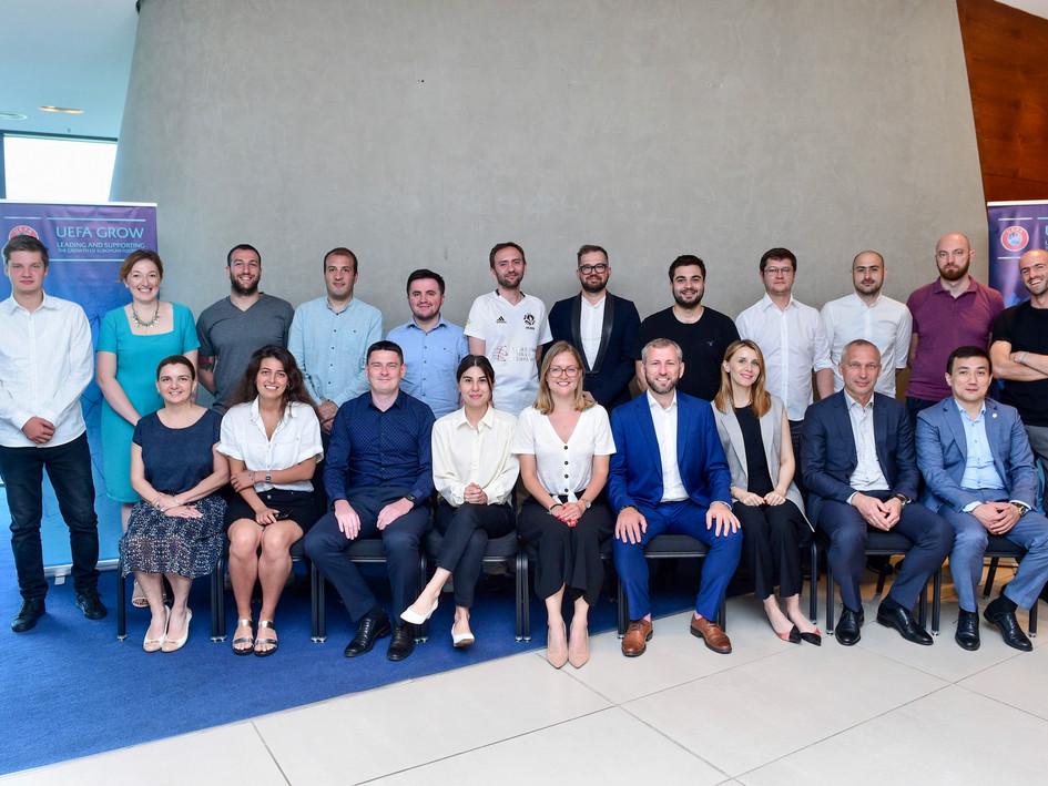 All attendees at the June 2019 UEFA GROW Eastern Europe Workshop