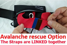 Avalanche Rescue option-Straps linked to