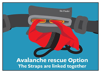 Avalanche Rescue - Straps linked togethe