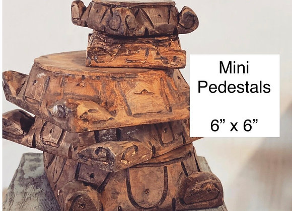 Mini Wood Pedestal Stained