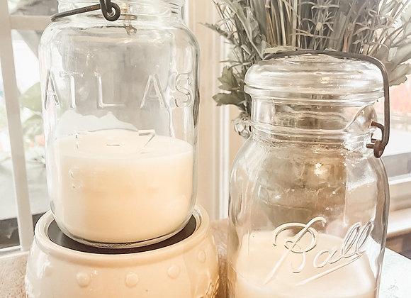 Wickless Vintage Jar Candle