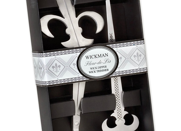 Fleur De Lis Wick Trimmer and Wick Dipper Gift Set