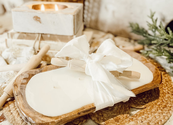 Mini PLUS Dough Bowl Candle-STAINED