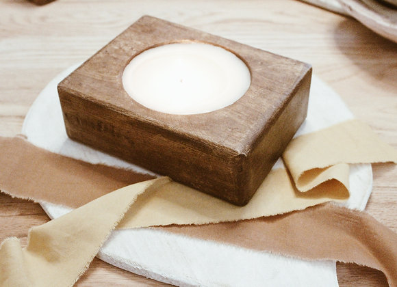 Single Cheese Mold Candle-Stained