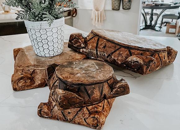 Large Wooden Pedestal